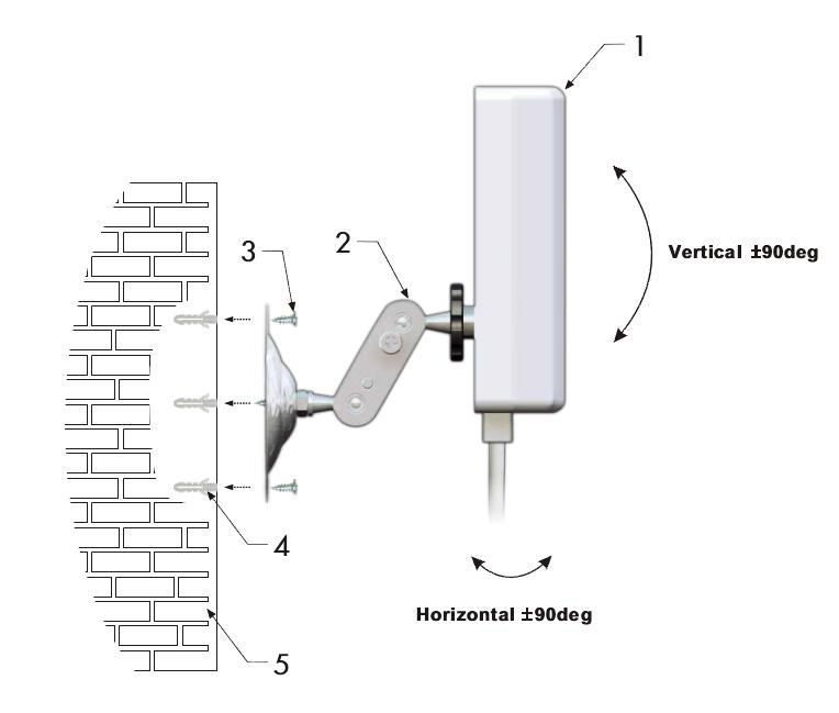 schemat montażowy anteny